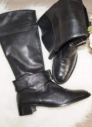 Vera gomma! италия! кожа! красивые комфортные высокие сапоги