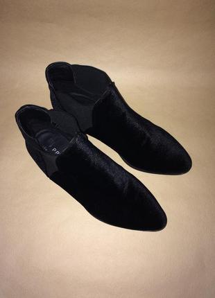 Велюровые/бархатные ботинки казаки/челси primark