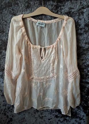 Шелковая блуза / блуза из натурального шелка