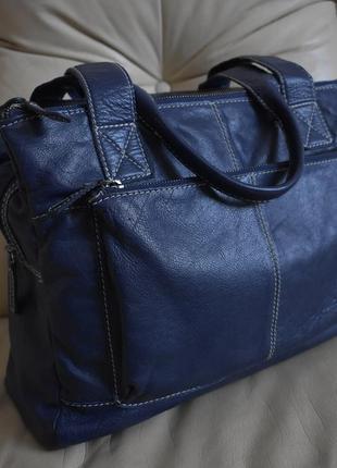 Стильная объемная кожаная сумка – 100% натуральная мясистая кожа