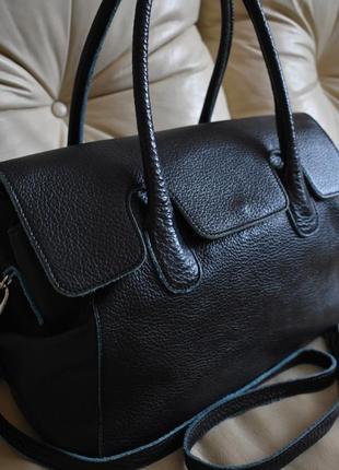 Vip – роскошная объемная кожаная сумка – 100% натуральная мясистая кожа – gianni conti