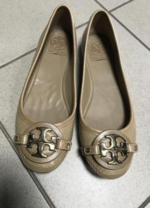 Туфли лодочки кожаные фирменные дорогой бренд tory burch размер 37
