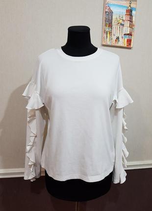 Белая кофта блуза h&m