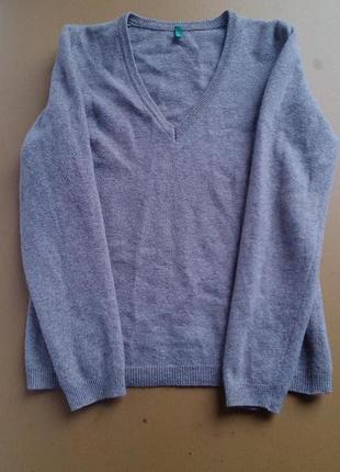 Шерстяной теплый свитер  benetton
