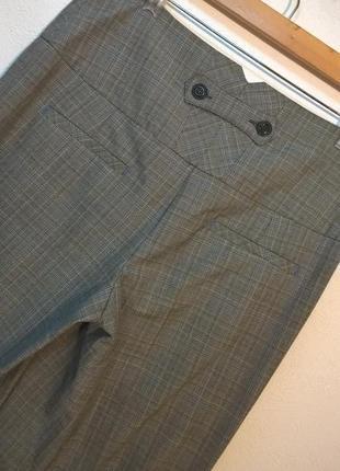 Широкие брюки в клетку5