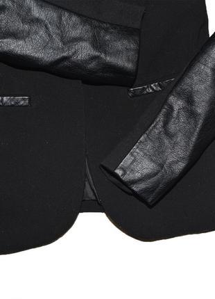 Жакет с кожаными рукавами h&m3 фото