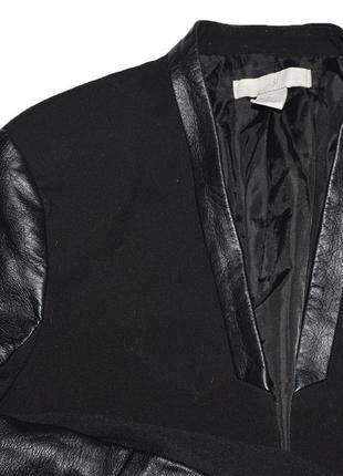Жакет с кожаными рукавами h&m4 фото