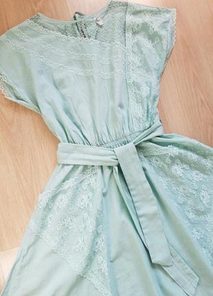 Шикарное  платье миди с кружевными карманами3 фото