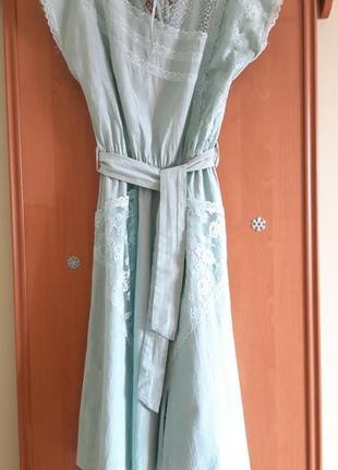 Шикарное  платье миди с кружевными карманами4 фото