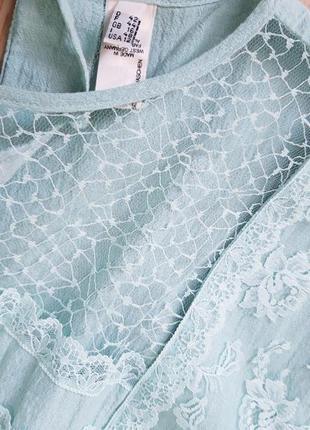 Шикарное  платье миди с кружевными карманами5 фото