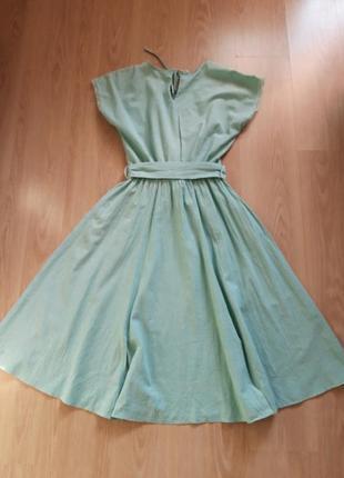Шикарное  платье миди с кружевными карманами6 фото