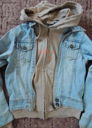 Стильный комбинированный пиджак, курточка