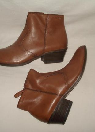 37 р./ 24 см германия шикарные фирменные кожаные ботиночки esprit
