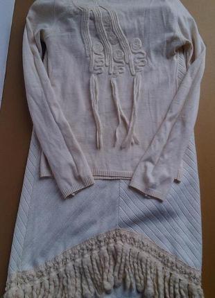 Итальянсий шерстяной костюм в стиле бохо