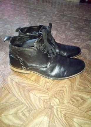 Ботинки,  кожа, кожаные.