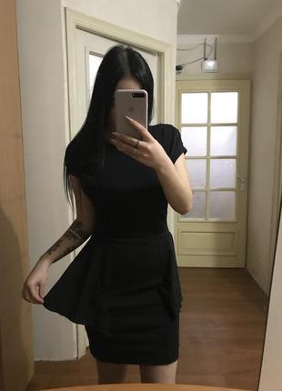 Эксклюзивное чёрное платье от stassia