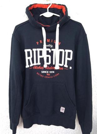 Кофта с капюшоном ripstop свитшот с карманами худи флис теплый размер m