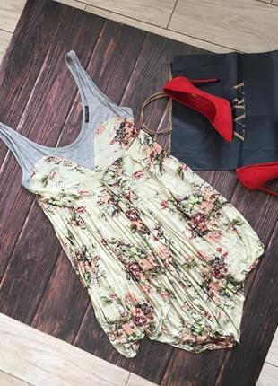 Платье в цветы topshop асимметричное