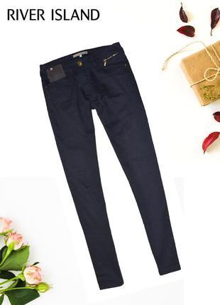 Штаны джинсы узкие с карманами skinny river island1 фото