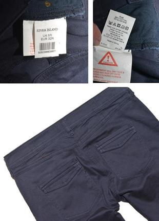 Штаны джинсы узкие с карманами skinny river island4 фото