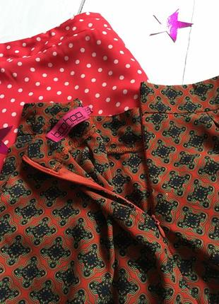 Крутые шорты с принтом на высокой посадке boohoo5 фото