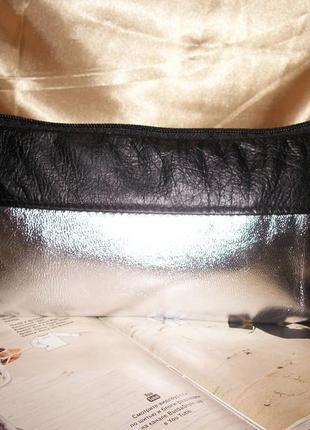Удлиненная косметичка из натуральной кожи .клатч