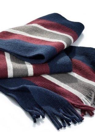 Мужской шарф с шерстью от тсм tchibo (чибо), германия1