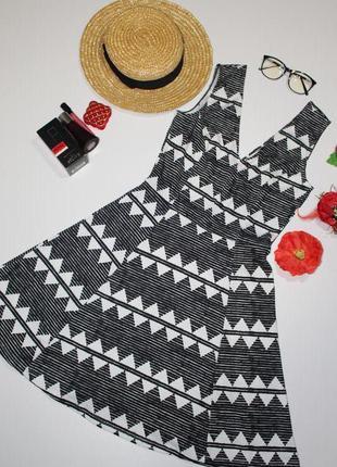 Обнова! платье сарафан приталенное принт геометрия3