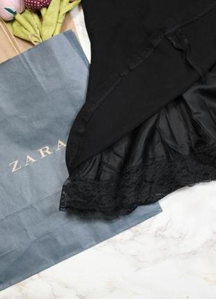 Обнова! нарядная юбка миди черная годе с кружевом качество zara5