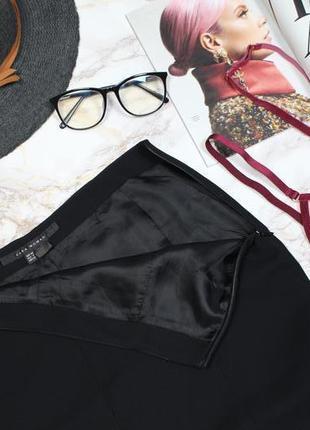 Обнова! нарядная юбка миди черная годе с кружевом качество zara3