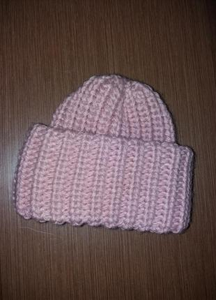 Тепла шапка зефірка