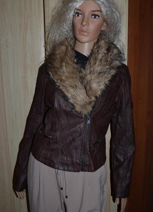 Куртка косуха с мехом new look 12 размер