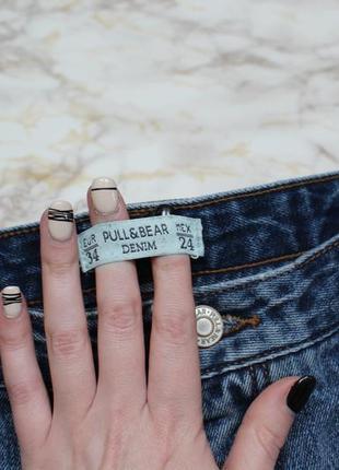Обнова! джинсы мам мом mom дистресс эффект pull&bear4 фото