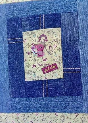 Hand made смешная детская подушка джинс