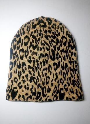Двойная вязаная шапка