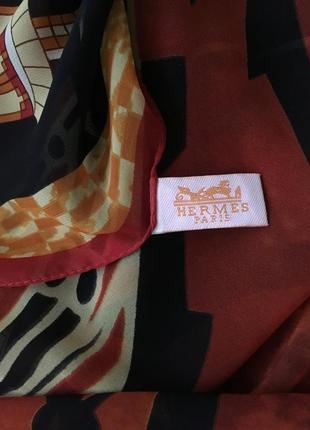 Шелковый  платок  шарф  hermes  195см-65см