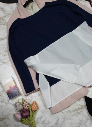 Обнова! джемпер свободного кроя оверсайз с рубашкой с боковыми разрезами zara4 фото