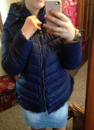 Куртка с мехом теплая пуховик
