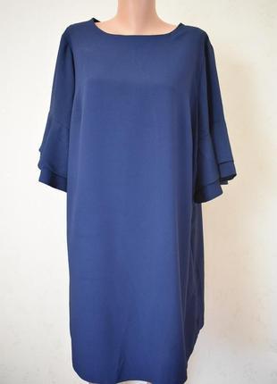 Класна темно-синя сукня батал пог 62см