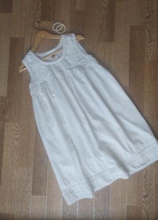Белоснежный хлопковый сарафан платье ретро винтаж