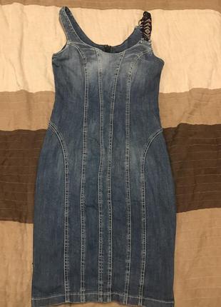 Джинсовое платье сарафан roccobarocco zara mango