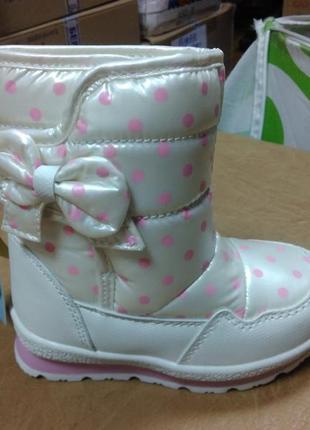 Зимние сапожки 28 р. tom.m на девочку шерсть дутики, дутіки, том.м, сапоги, ботинки