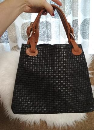 Шикарная кожаная сумка от итальянского премиум бренда infinitif