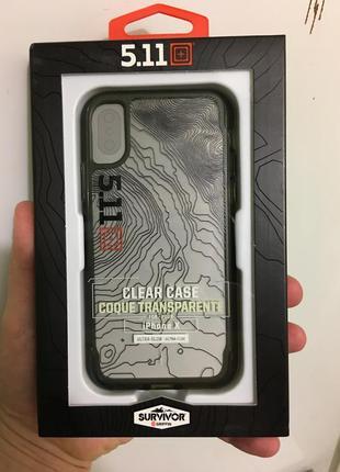 Противоударный чехол griffin survivor 5.11 tactical edition clear для iphone x xs4 фото