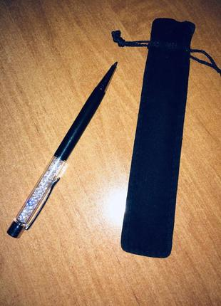 Ручка swarovski чёрная