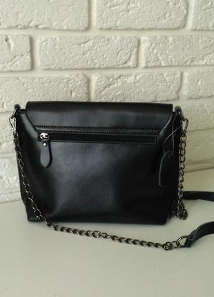 Красивая сумочка, клатч на длинной цепочке, кожа4 фото