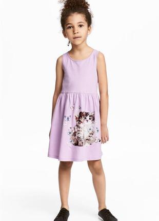 Детское платье с котиками h&m