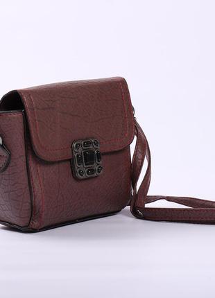 Отличная качественная сумочка мини, цвет бордо3