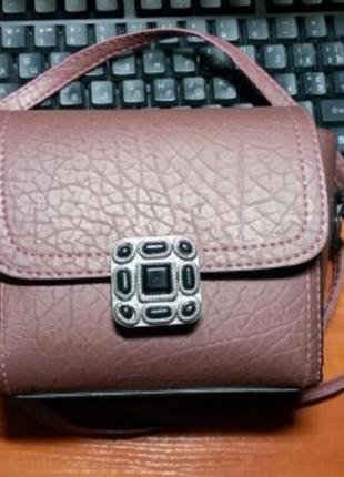 Отличная качественная сумочка мини, цвет бордо5