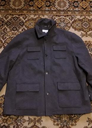 Брендова куртка напівпальто бушлат calvin klein,оригінал із сша,нова,шерсть,розмір xxl.